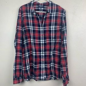 Madewell Plaid Long Sleeve Button Down Large